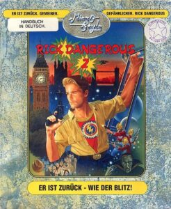 Rick Dangerous 2 old DOS Game Box Cover Art