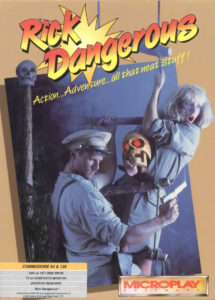 Rick Dangerous old DOS Game Box Cover Art
