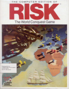 Risk: The World Conquest Game old DOS Game Box Cover Art
