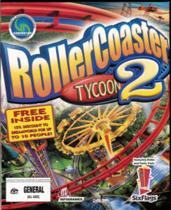 RollerCoaster Tycoon 2 PC Game Box Cover Art