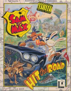 Sam & Max Hit the Road old DOS Game Box Cover Art