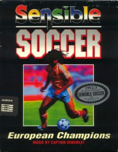 Sensible Soccer: European Champions old DOS Game Box Cover Art