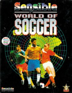 Sensible World of Soccer old DOS Game Box Cover Art