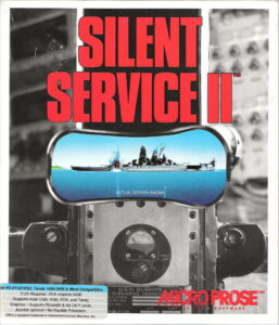 Silent Service 2 old DOS Game Box Cover Art