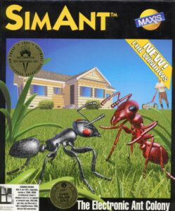 SimAnt: The Electronic Ant Colony old DOS Game Box Cover Art