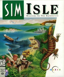 SimIsle: Missions in the Rainforest old DOS Game Box Cover Art
