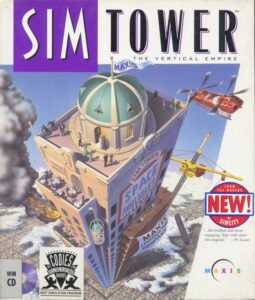 SimTower: The Vertical Empire old DOS Game Box Cover Art