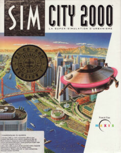 Simcity 2000 old DOS Game Box Cover Art
