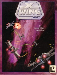 Star Wars: X-Wing old DOS Game Box Cover Art
