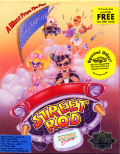 Street Rod old DOS Game Box Cover Art