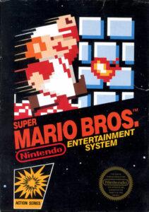 Super Mario Bros. old DOS Game Box Cover Art 1985