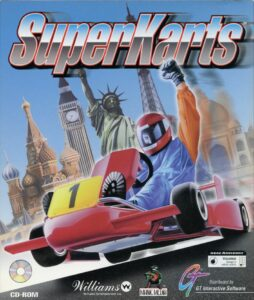 SuperKarts old DOS Game Box Cover Art 1995