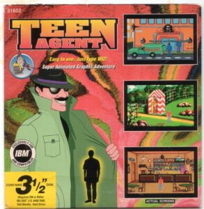 Teen Agent old DOS Game Box Cover Art