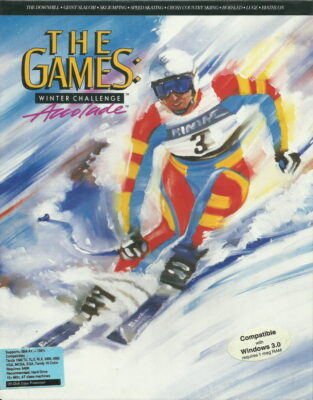 The Games Winter Challenge DOS Game Box Cover Art