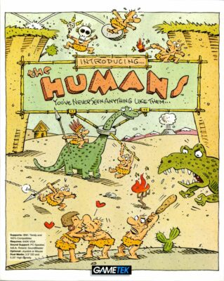 The Humans DOS Game Box Cover Art