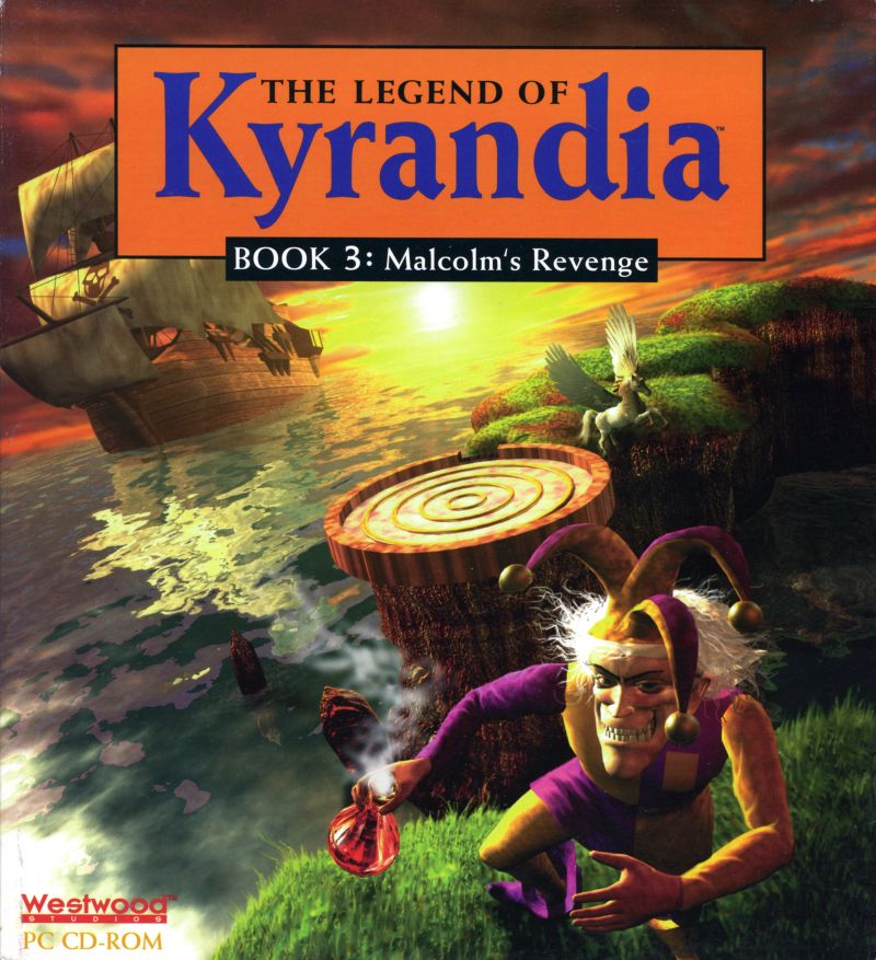 The Legend of Kyrandia 3 Malcolm's Revenge DOS Game Cover