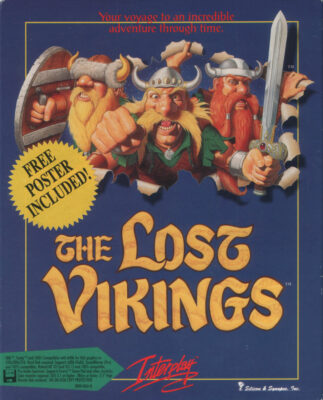 The Lost Vikings DOS Game Cover
