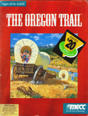The Oregon Trail DOS Game Cover