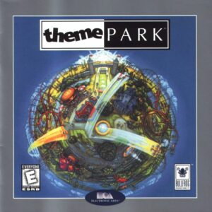 Theme Park old DOS Game Box Cover Art 1994