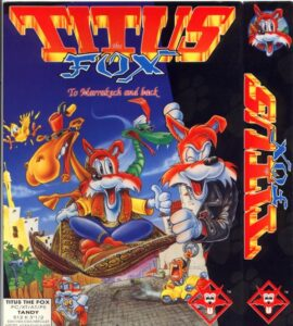 Titus the Fox old DOS Game Box Cover Art