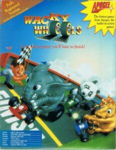 Wacky Wheels Game Box Cover Art