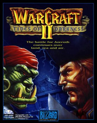 WarCraft 2 PC Game Box Cover Art