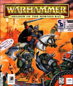 Warhammer: Shadow of the Horned Rat old DOS Game Box Cover Art
