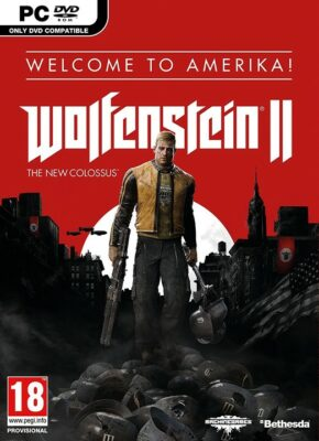 Wolfenstein II The New Colossus PC Game Box Cover Art