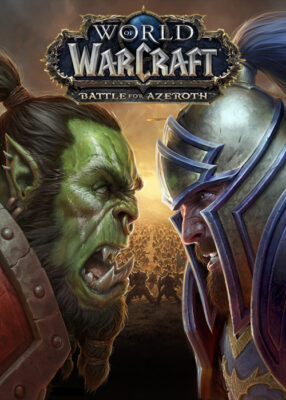 World of Warcraft Battle for Azeroth PC Game Box Cover Art
