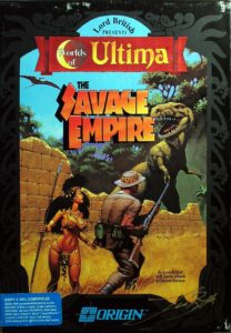 Worlds of Ultima: The Savage Empire old DOS Game Box Cover Art