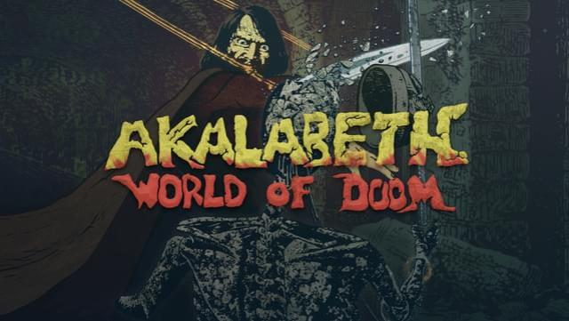 Akalabeth World of Doom rpg dos game 1980