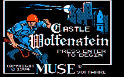 Castle Wolfenstein action dos game 1984