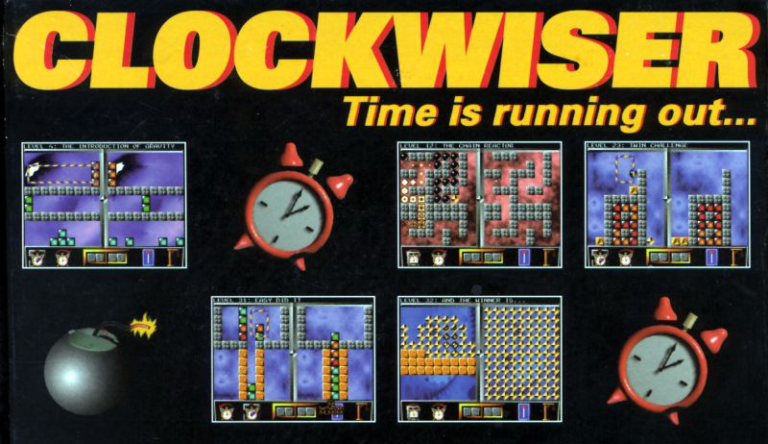 Clockwiser Time is Running Out... puzzle dos game 1994
