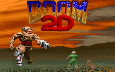 DOOM 2D action dos game 1996