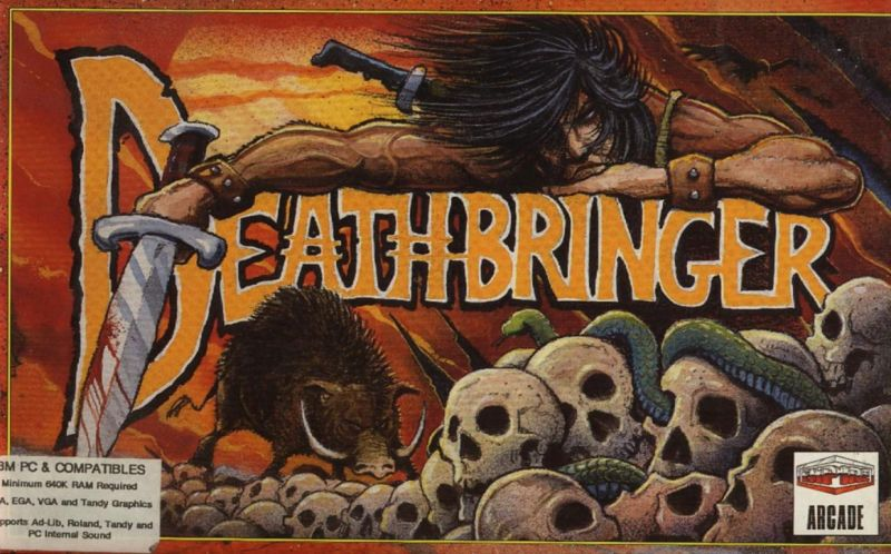 Deathbringe Cover action dos game 1992