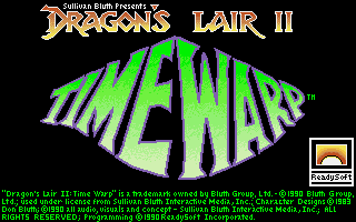 Dragon's Lair II Time Warp arcade dos game 1990