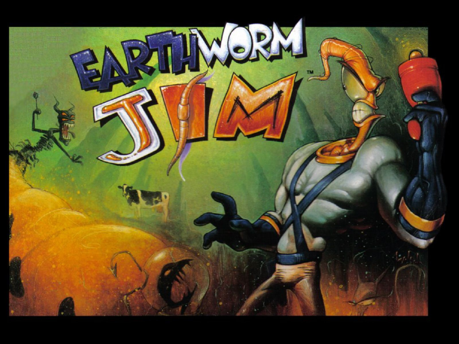 Earthworm Jim action dos game 1995