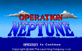 Operation Neptune puzzle dos game 1991