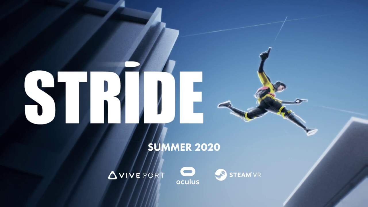 Stride parkour virtual reality game 2020