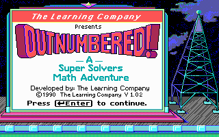 Super Solvers OutNumbered! puzzle dos game 1990