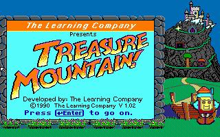 Super Solvers Treasure Mountain! puzzle dos game 1990
