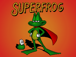Superfrog action dos game 1994