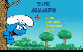 The Smurfs action dos game 1996