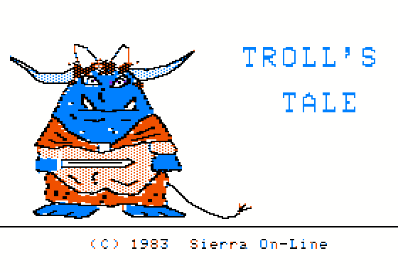 Troll's Tale adventure dos game 1983