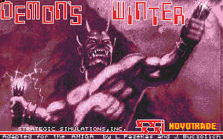 Demon's Winter role playing dos game 1989