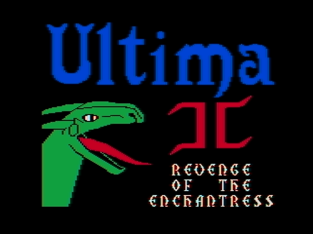 Ultima II Revenge of the Enchantress role playing dos game 1983