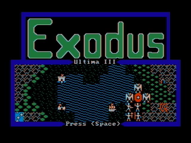 Ultima III Exodus role playing pc game 1985