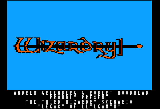 Wizardry III Legacy of Llylgamyn role playing pc game 1983